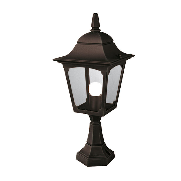 Elstead Lighting CHAPEL PEDESTAL LANTERN BLACK