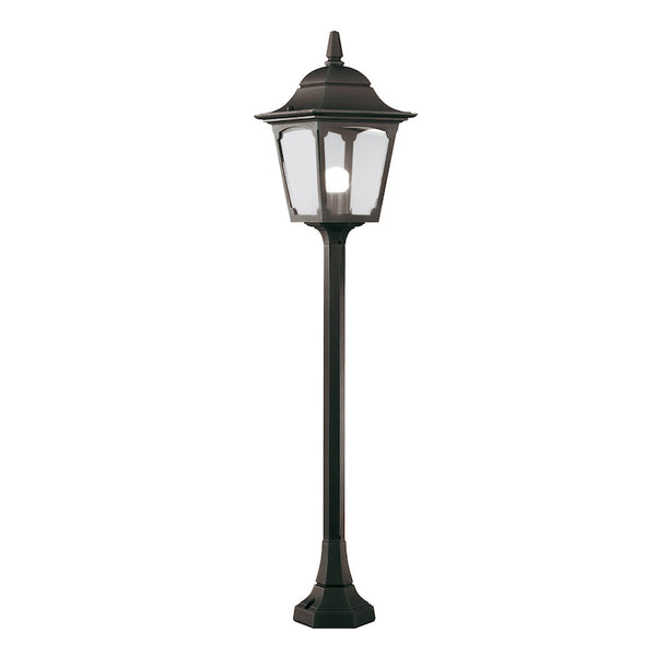 Elstead Lighting CHAPEL PILLAR LANTERN BLACK