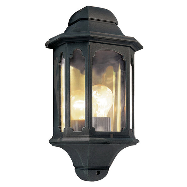Elstead Lighting CHAPEL HALF LANTERN BLACK