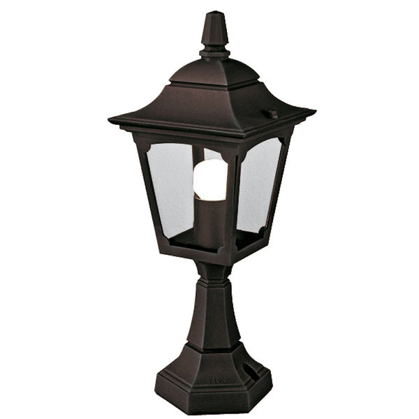 Elstead Lighting CHAPEL MINI PEDESTAL LANTERN BLACK