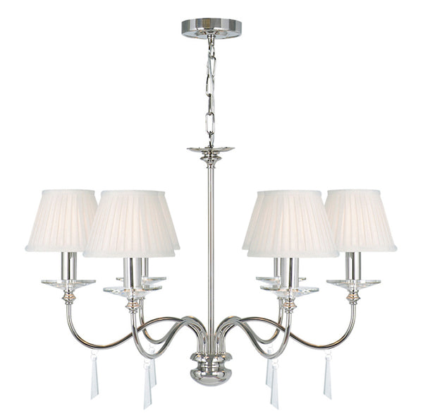 Elstead Lighting FINSBURY PARK 6LT CHANDELIER POLISHED NICKEL