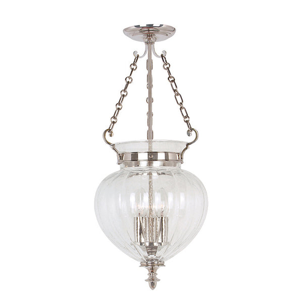 Elstead Lighting FINSBURY PARK PENDANT MEDIUM POLISHED NICKEL