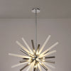 LUMOS Fusion  Pendant 16 Light -  Smoked & Frosted/Polished Chrome