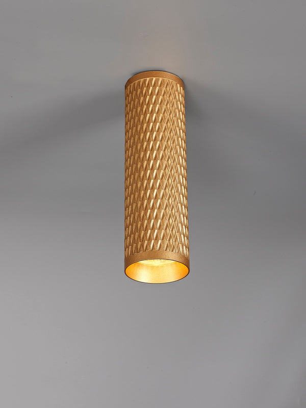LUMOS Madison 20cm Surface Mounted Ceiling Light -  Champagne Gold