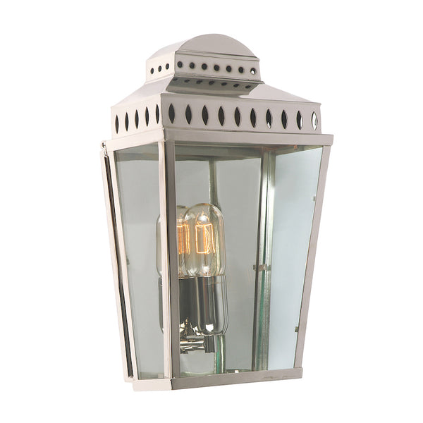 Elstead Lighting MANSION HOUSE WALL LANTERN POLISHED NICKEL