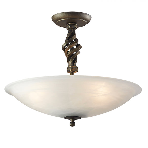 Elstead Lighting PEMBROKE SEMI-FLUSH A BLACK-GOLD