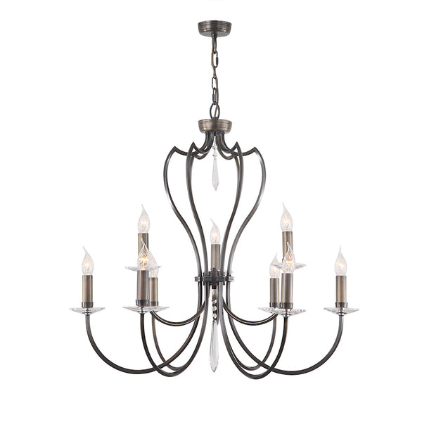 Elstead Lighting PIMLICO 9LT CHANDELIER DARK BRONZE