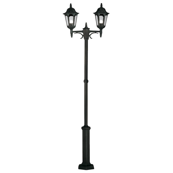 Elstead Lighting PARISH TWIN POST BLACK