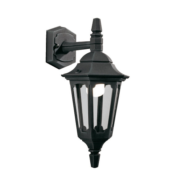 Elstead Lighting PARISH MINI DOWN WALL LANTERN BLACK