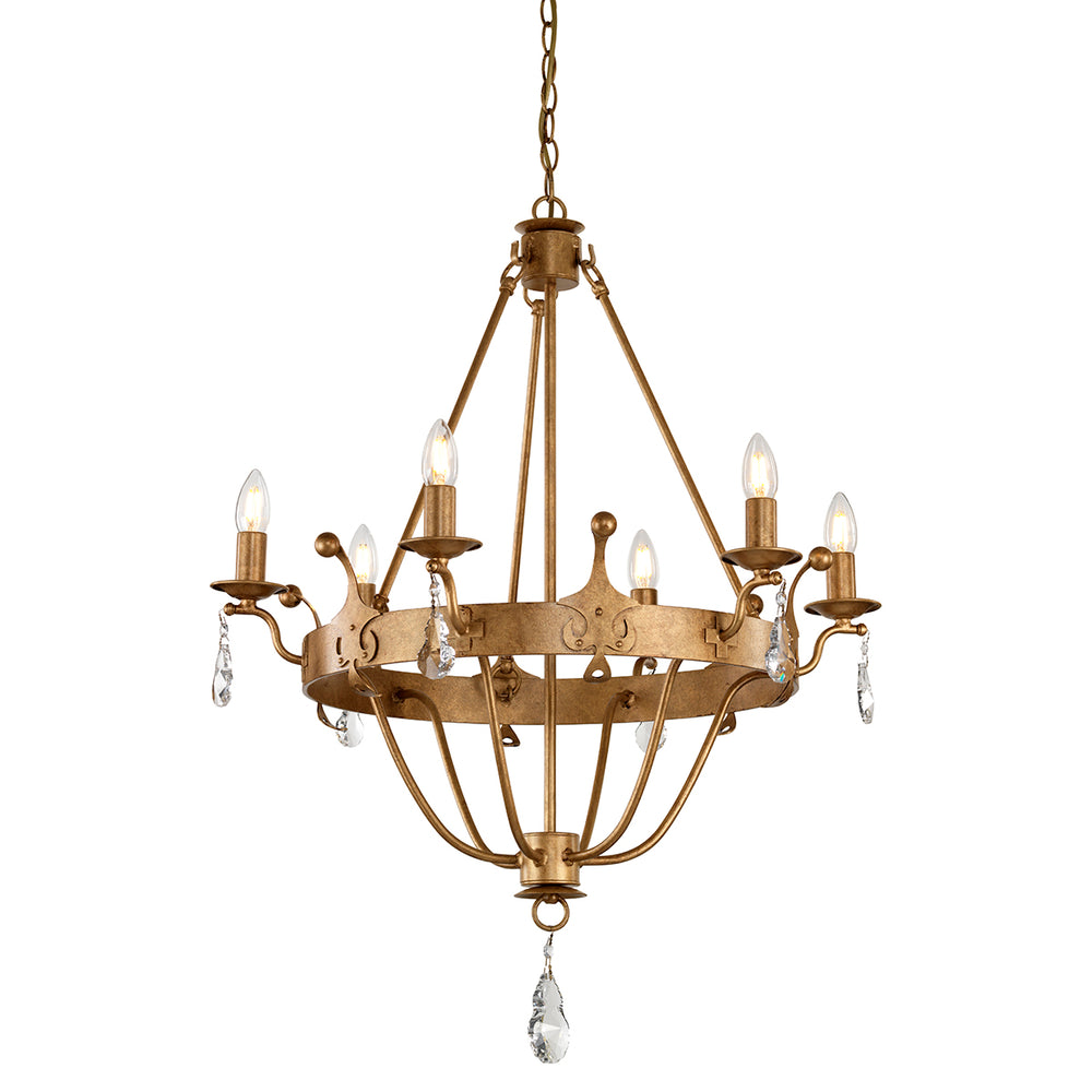 Elstead Lighting WINDSOR 6LT CHANDELIER