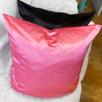 1 Pink Satin Pillow Case 80x80