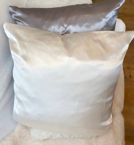 1 White Satin Pillow Case 80x80