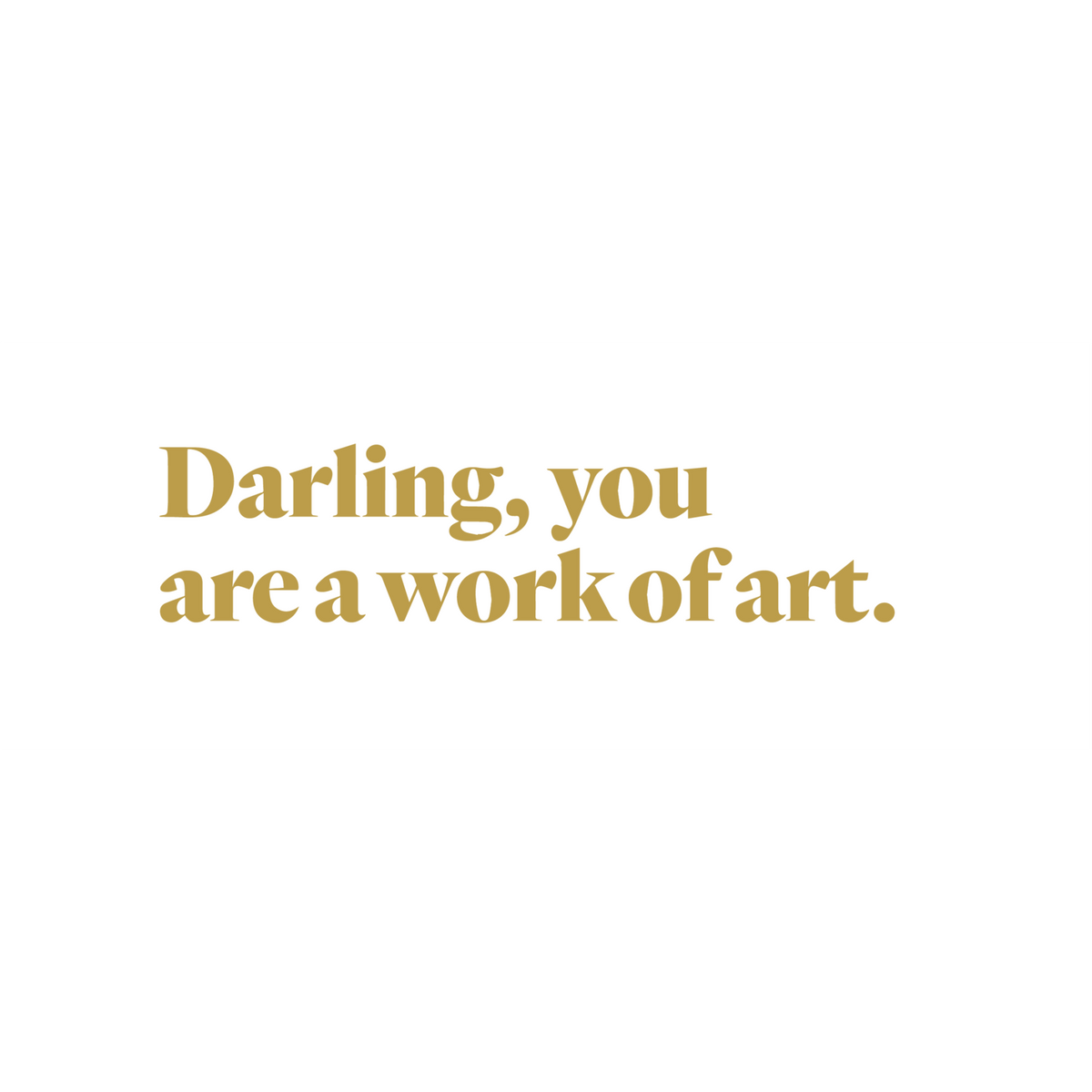 Work Of Art Decal-Darling-1000 Palms