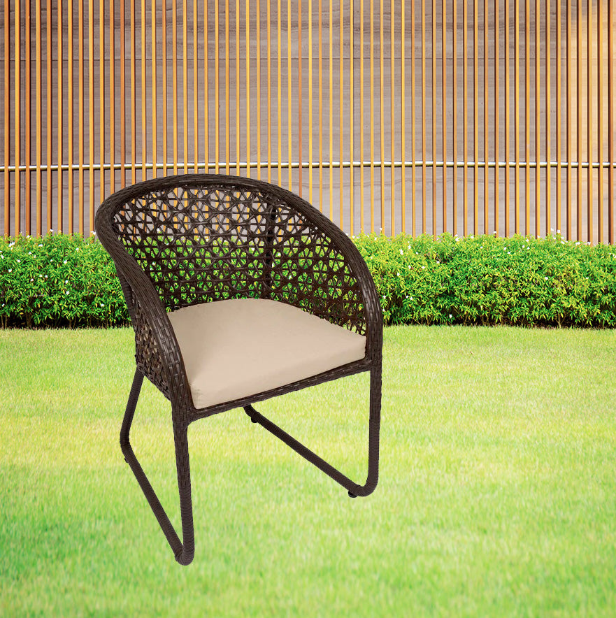 Detec™ Out'n'Out Chair - Set of 2 (Brown Color)