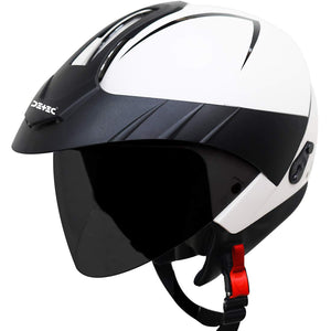 Detec™ Open Face Helmet with Peak Cap and Extra Clear Visor