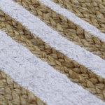 Load image into Gallery viewer, Detec™ Cotton and Jute Floor Rug - White and Beige Color