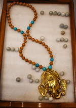 Load image into Gallery viewer, Detec Homzë Ganesha Pendant Necklace