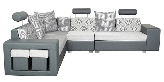 Detec™ Hansjörg 7 Seater Corner Sofa - Grey Color