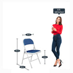 Load image into Gallery viewer, Detec™ Metal Chair - White & Royal Blue Color