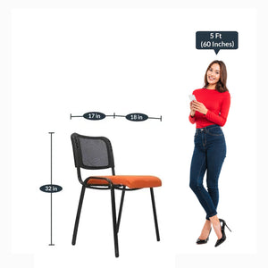 Detec™ Barcelona Guest Chair - Orange Color