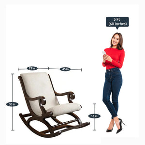 Detec™ Rocking Chair in Walnut Color
