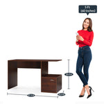 Load image into Gallery viewer, Detec™ Study Table - Walnut Brown Color