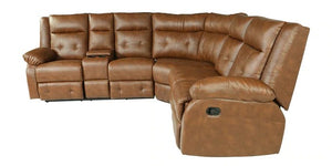 Detec™ Hans-Ulrich Corner Sofa with 2 Recliners - Bown Color