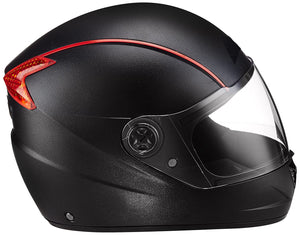 Detec™ Professional Full Face Helmet (Black & Red, Large)