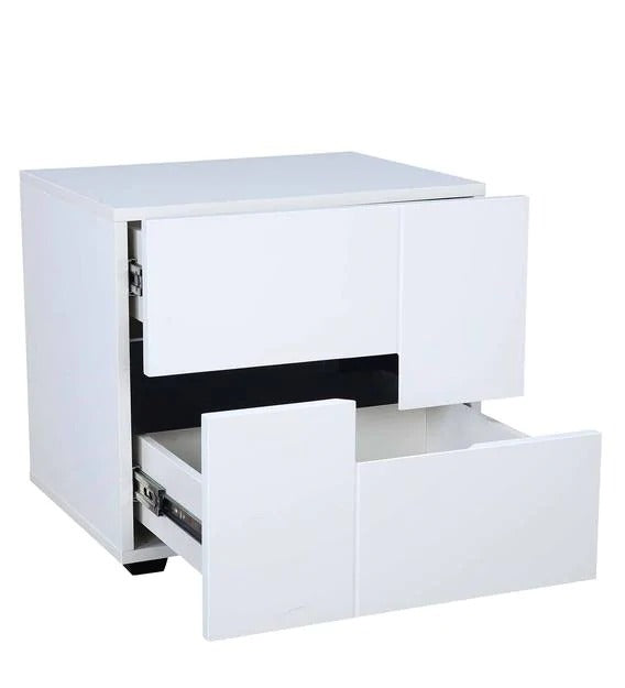 Detec™ Bedside Table - White Colour