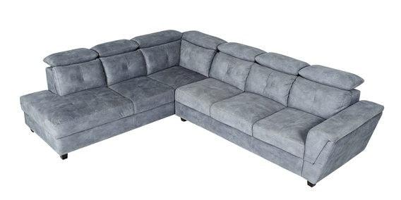 Detec™ Hauke RHS 3 Seater Sofa with Lounger - Grey Color