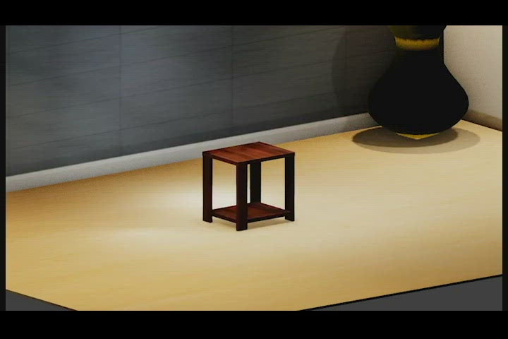 End Table - Wooden Brown Color
