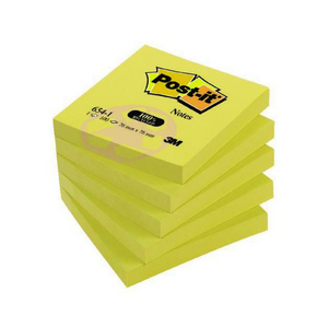 Detec™ 3M Yellow Notes 76mm x 126mm Pack of 8