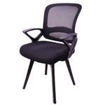 Load image into Gallery viewer, Smart Medium Back Visitor Chair net back Fabric Office Chair (Black)