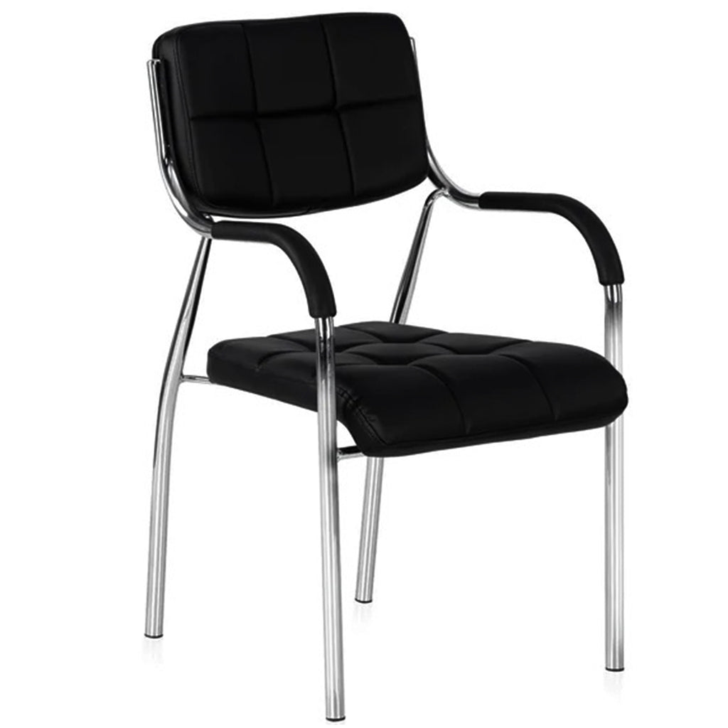 Detec™ Office Chair with Arms & Backrest Support for All Purpose Chair - Black