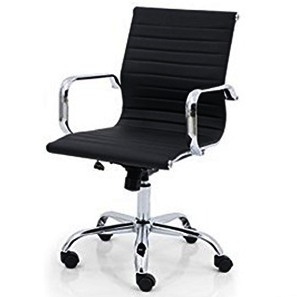Revolving Chair with Back Support (Black)