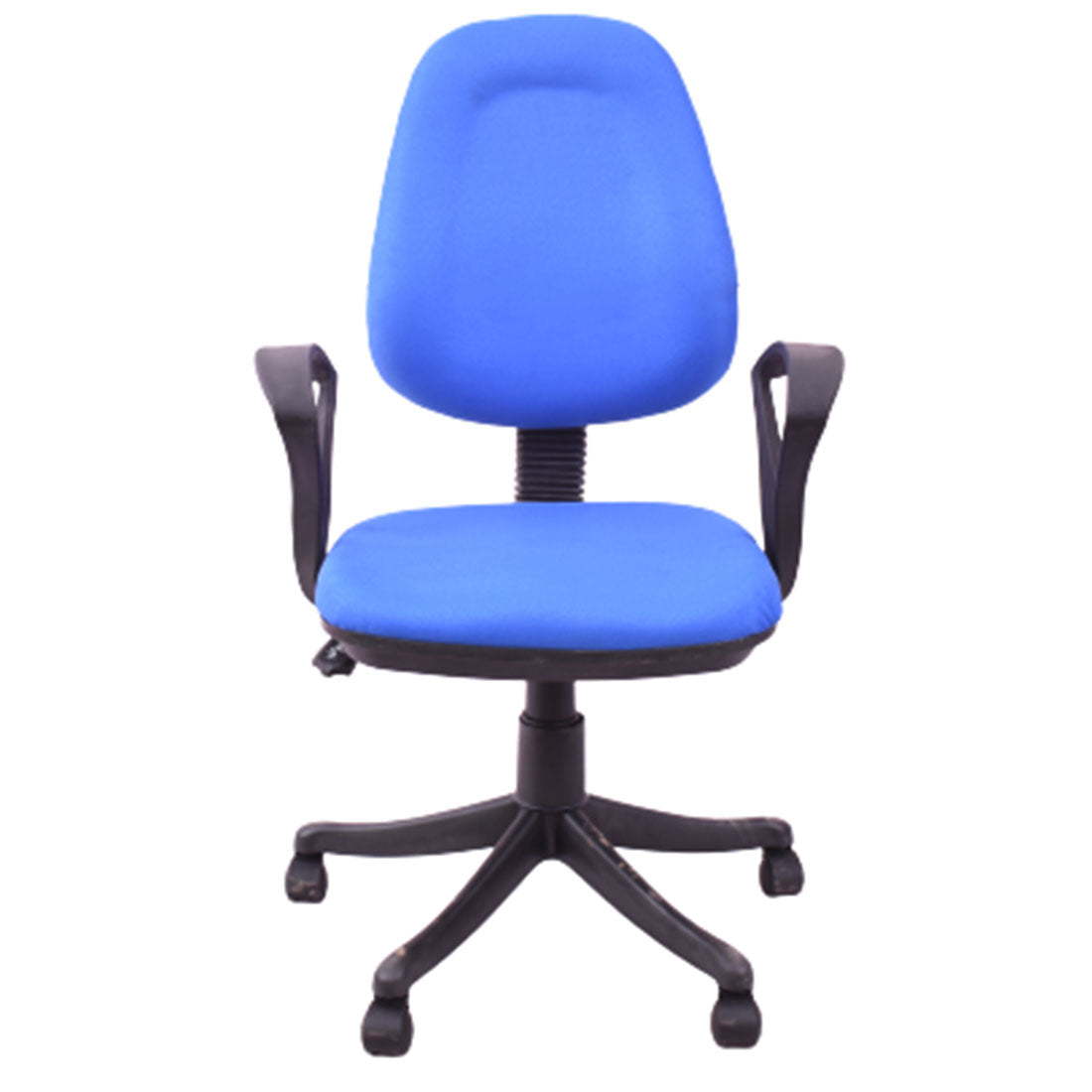 Comfort Medium Back Revolving Chair for Office Purpose (Blue)