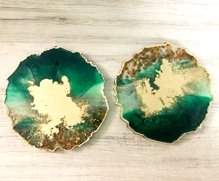 Detec Homzë Coasters ( set of 2 ) - Wood Resin