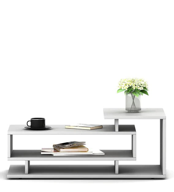 Detec™ Coffee Table In Frosty White Color
