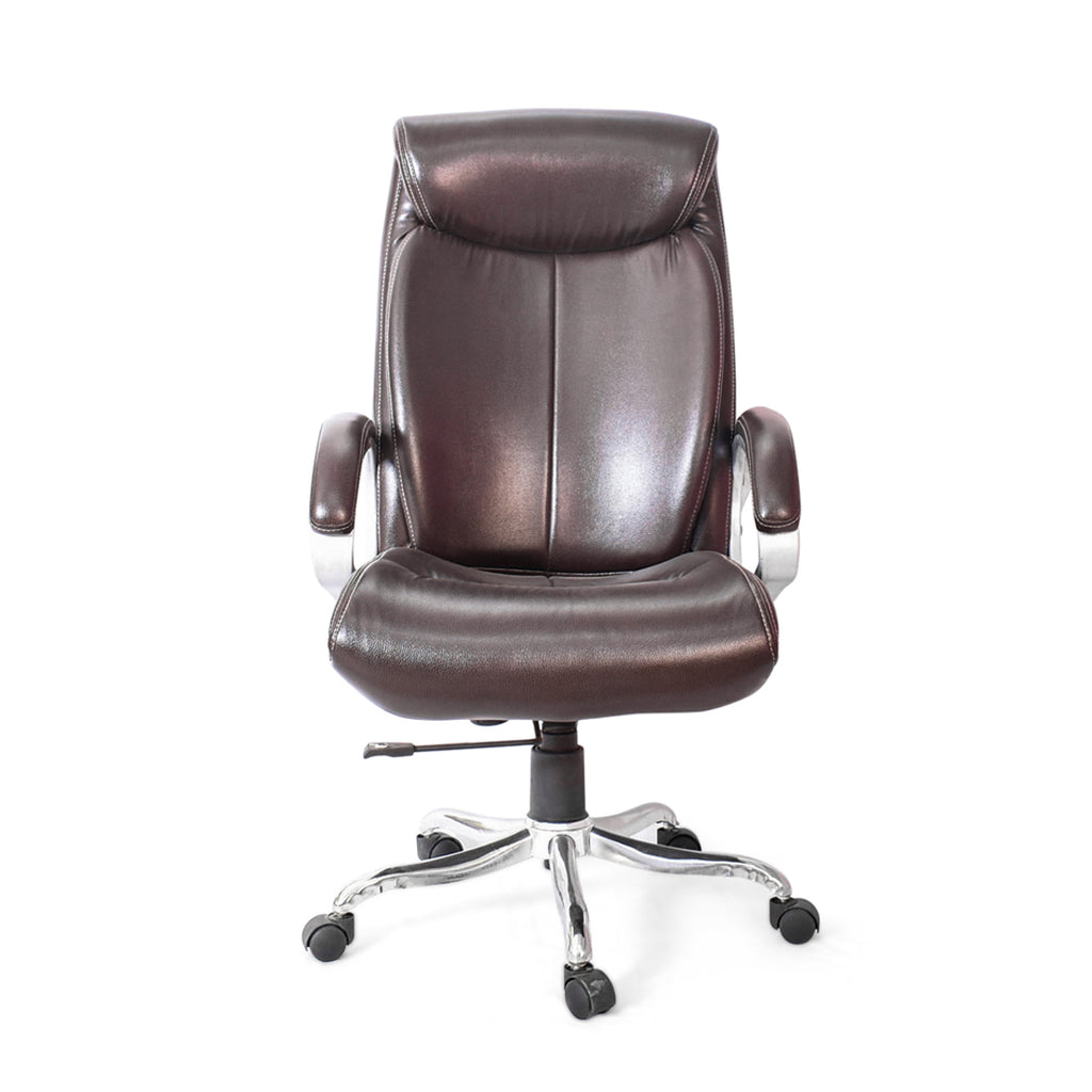 High Back Executive Chair Leatherette Fabric (Black)