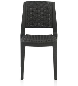 Plastic Chair (Set of 2) - Iron Black Color