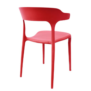 Fiber Cafe Restaurant Chair (Red)