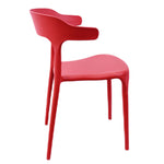 Load image into Gallery viewer,  Fiber Cafe Restaurant Chair (Red)