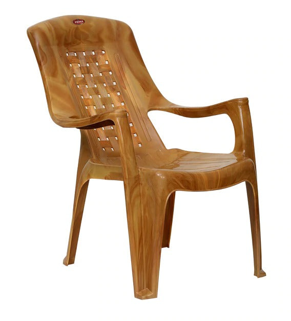 Plastic Chair (Set of 2) - Sandalwood Color