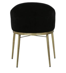 Arm Chair in Black Upholstery