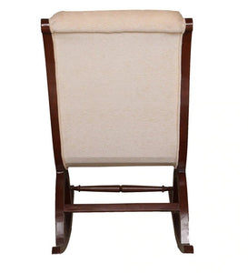 Rocking Chair with Light Beige Upholstery Finish