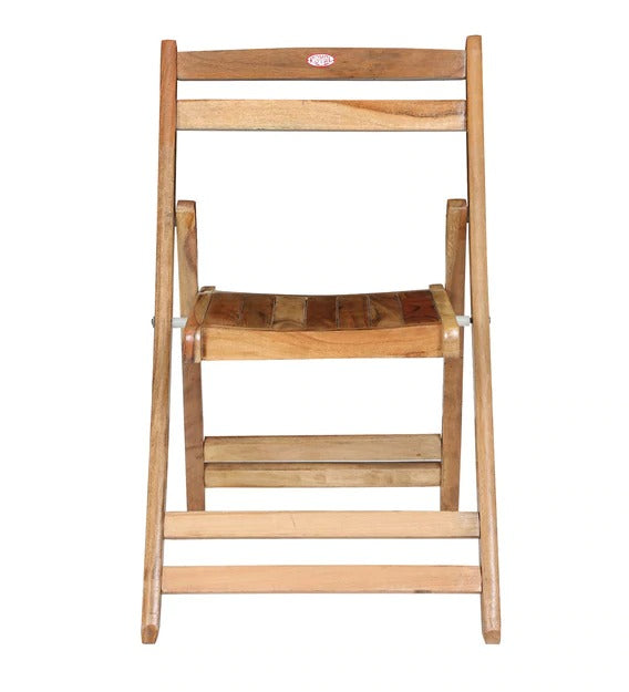 Teakwood Foldable Chair in Natural Finish