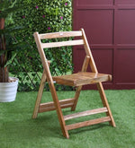 Load image into Gallery viewer, Teakwood Foldable Chair in Natural Finish