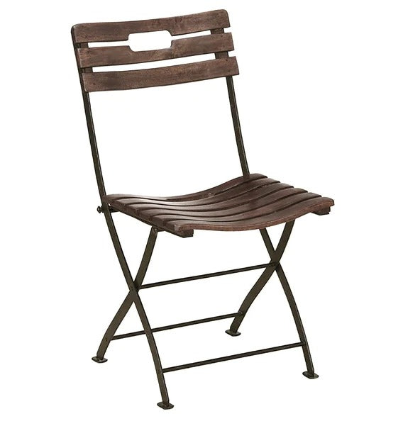 Folding Chair in Provincial Teak Finish