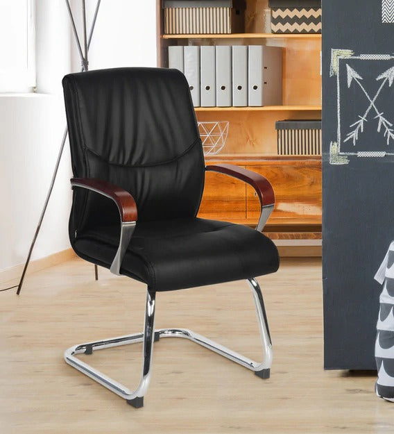 Detec™ Boss Cantilever Chair in Black Colour