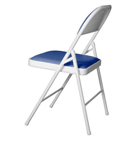 Detec™ Metal Chair - White & Royal Blue Color